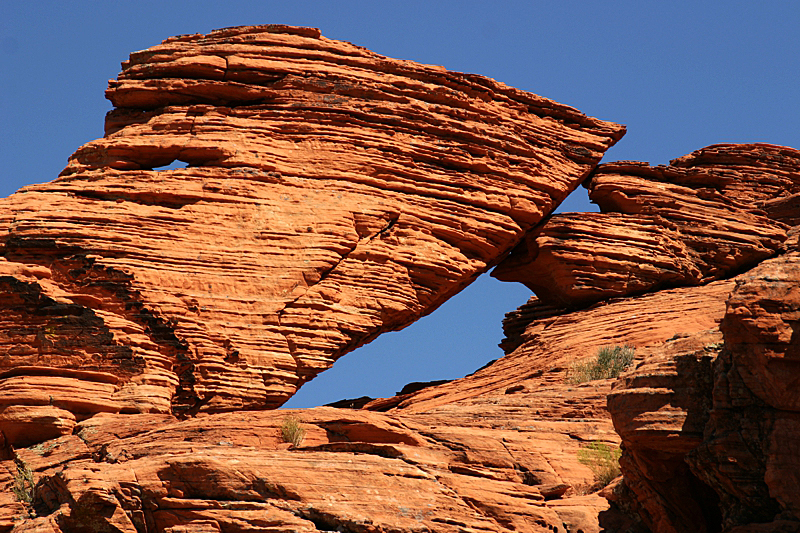 Panorama Rock Window im Valley of Fire State Park